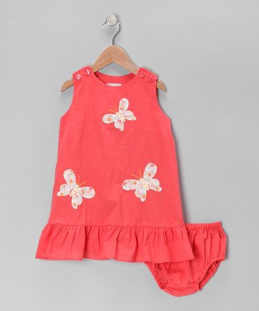 Take a look at this Peach Butterfly Dress - Infant & Toddler by Fantaisie Kids on #zulily today!