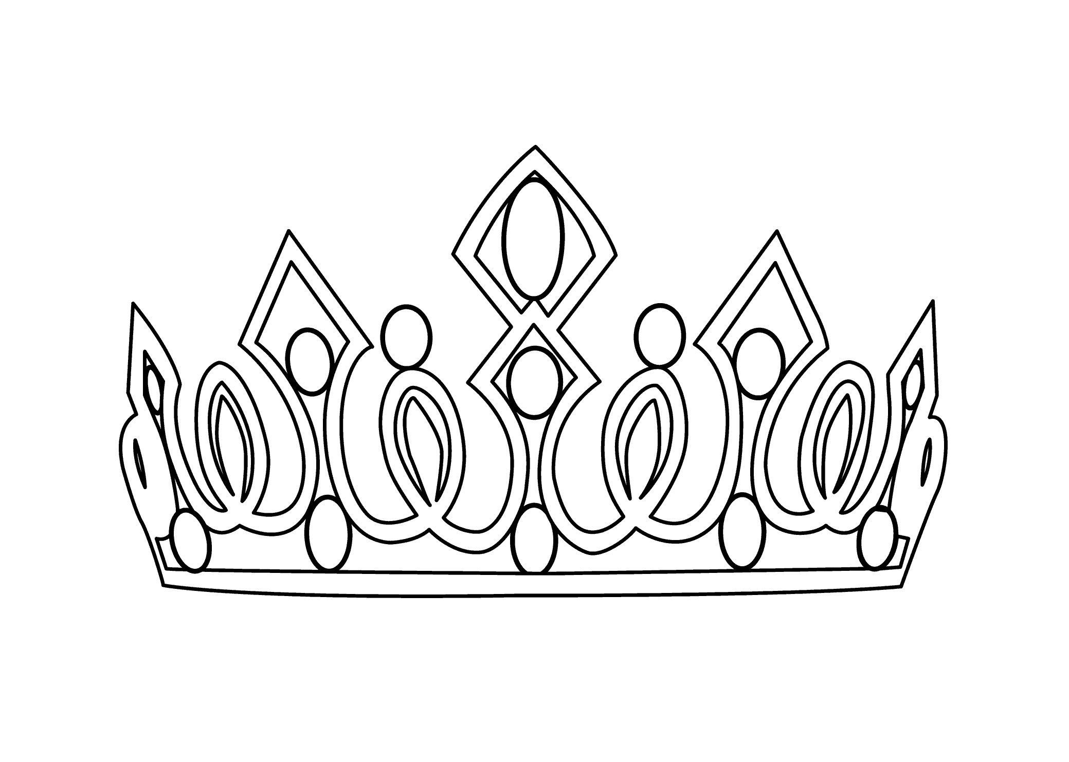 Coloring Page Princess Crown Sketsa Mahkota