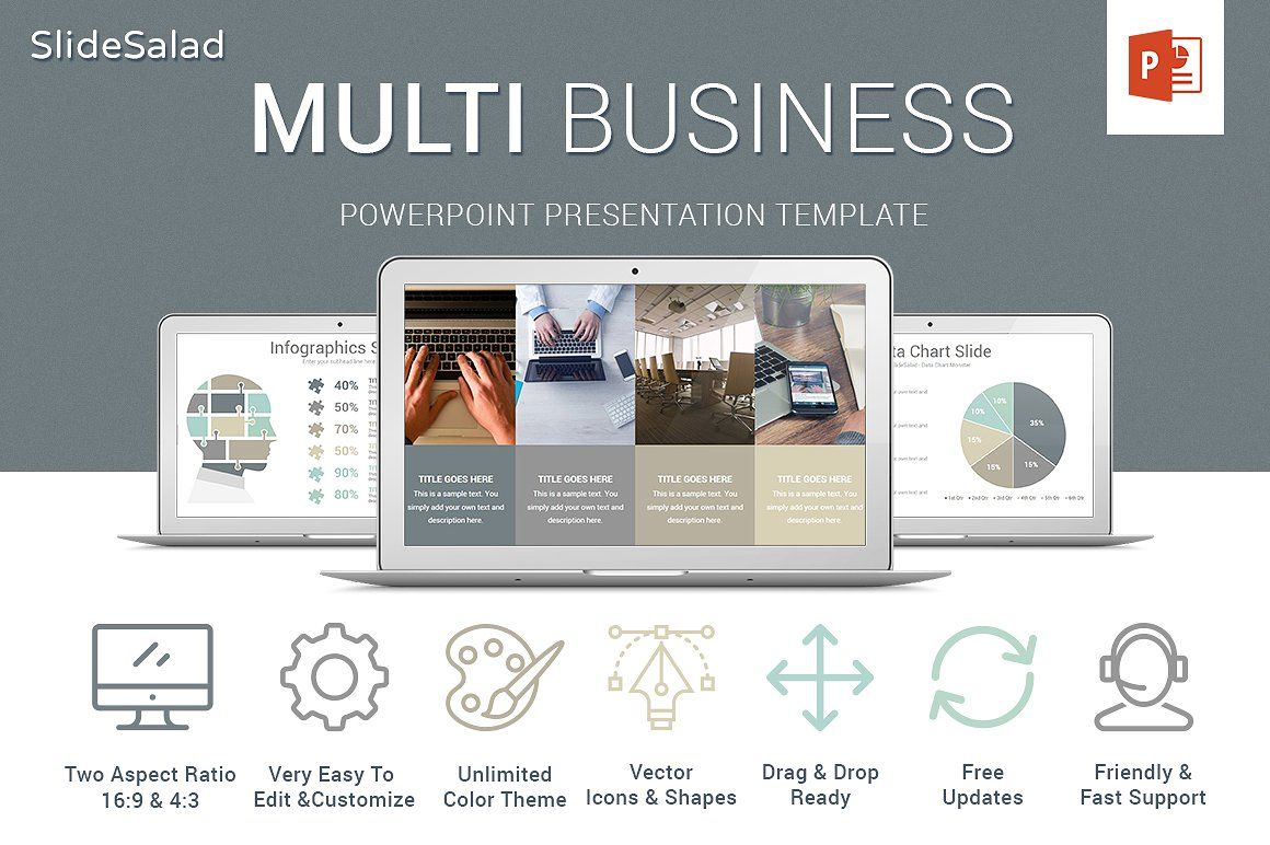 Multi Business Powerpoint Template Creative Modern Clean