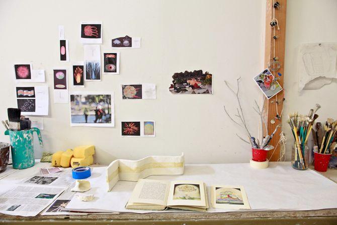 Rebeca Bollinger via In The Make Workspace Envy Pinterest