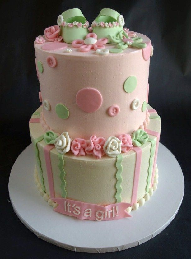 great pink and mint girly cake. susiecelebrant celebrantsusie, Baby shower invitation