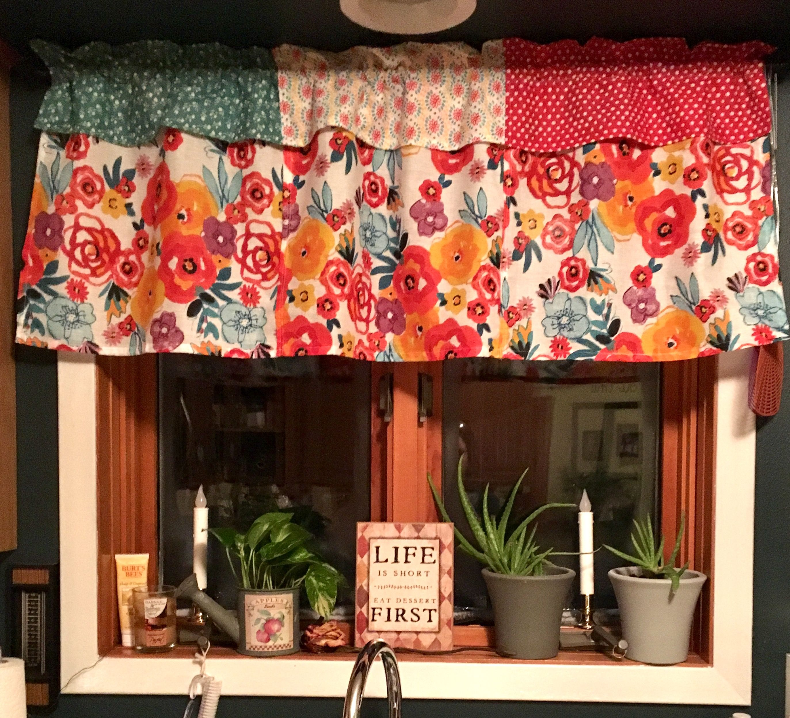 More curtains made from Pioneer Woman napkins | My home.... ideas ...