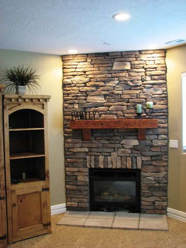 Cultured Stone Fireplaces Stone Fireplace Fireplace Stacked Stone Fireplaces