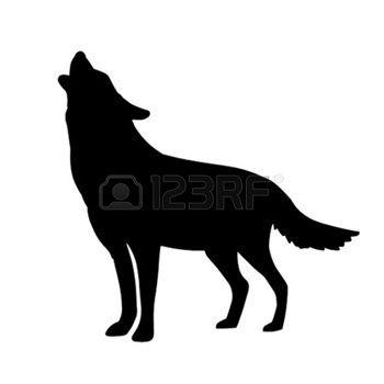 Le Loup Loup Hurlant Illustration Silhouette De Loup Coloriage