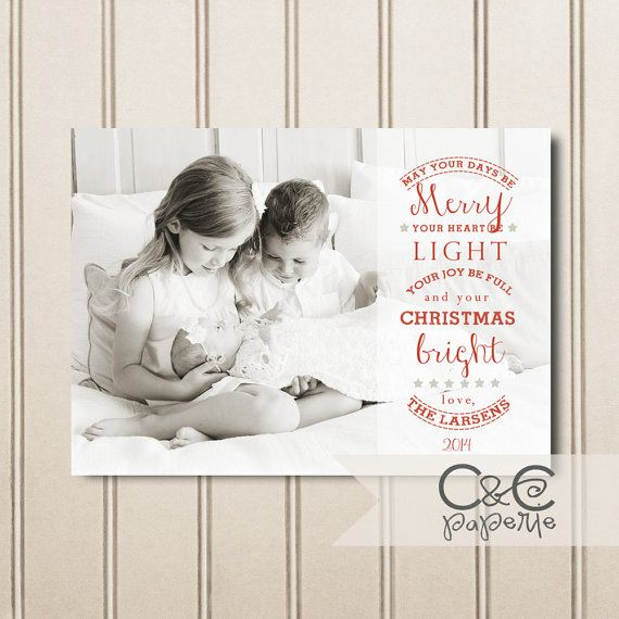 Bright ChristmasChristmas Card Template for Adobe ...