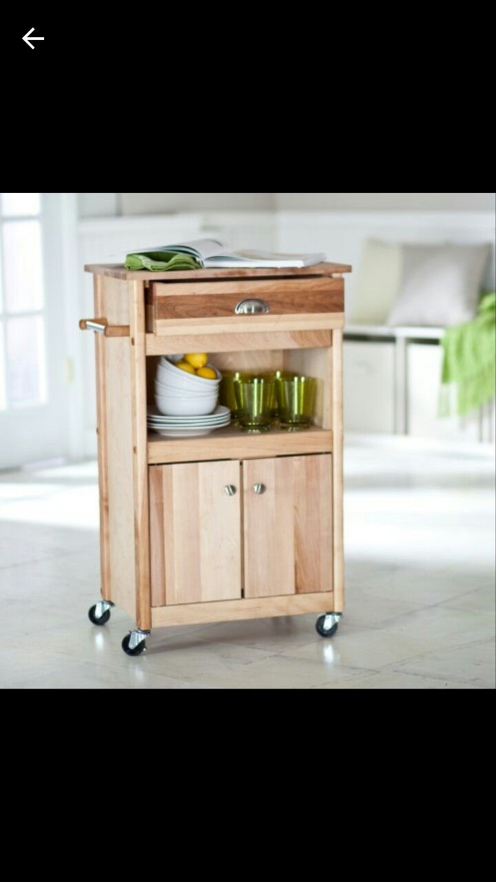 Find This Pin And More On House Stuff By Anewood. The Brennan Microwave Cart  ...