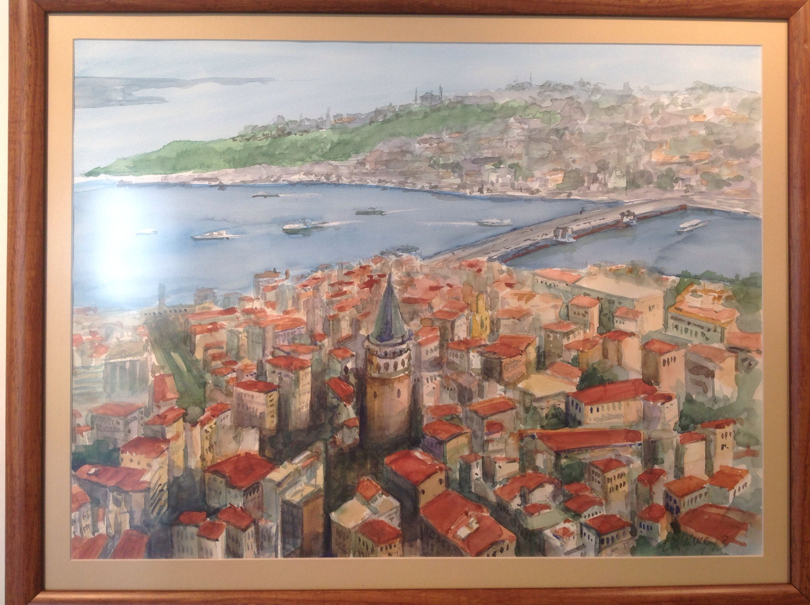 By Erhan Yalvaç #watercolor #painting