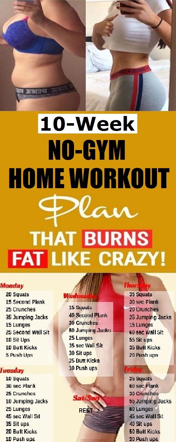 10 Week No-Gym Home Workout Plan That Burns Fat Guaranteed | Fitness