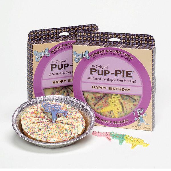 Pup PIE Happy Birthday Pie Shaped Dog Treat