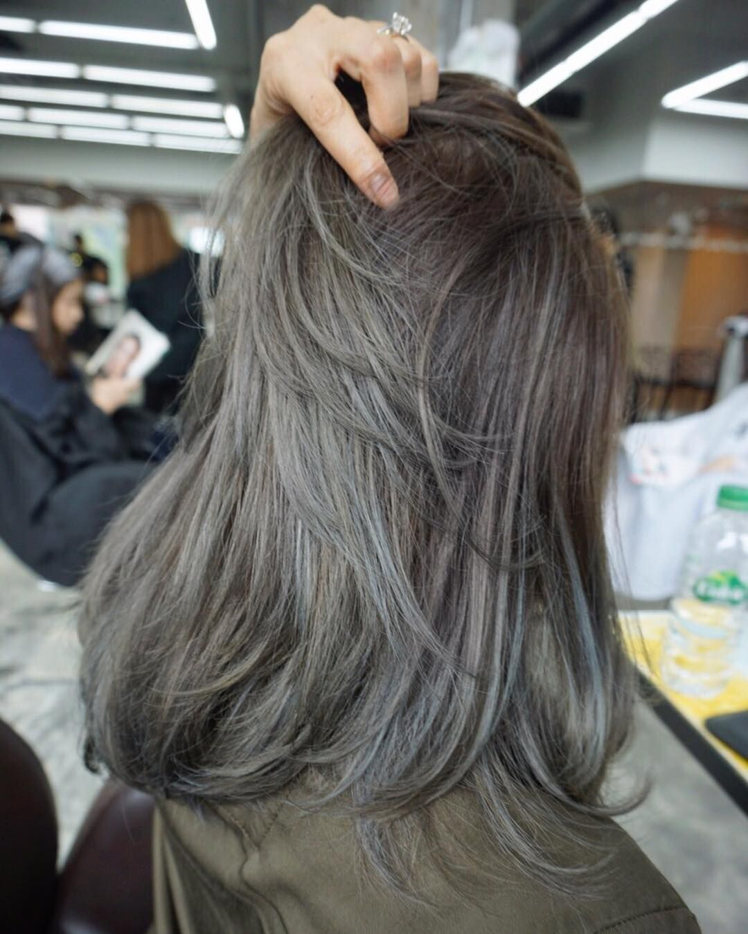Cool Beige Grey Color Combo Hair Style Designed For This Customer At Number76 Kuala Lumpur Beige Hair Hair Styles Ash Hair Color