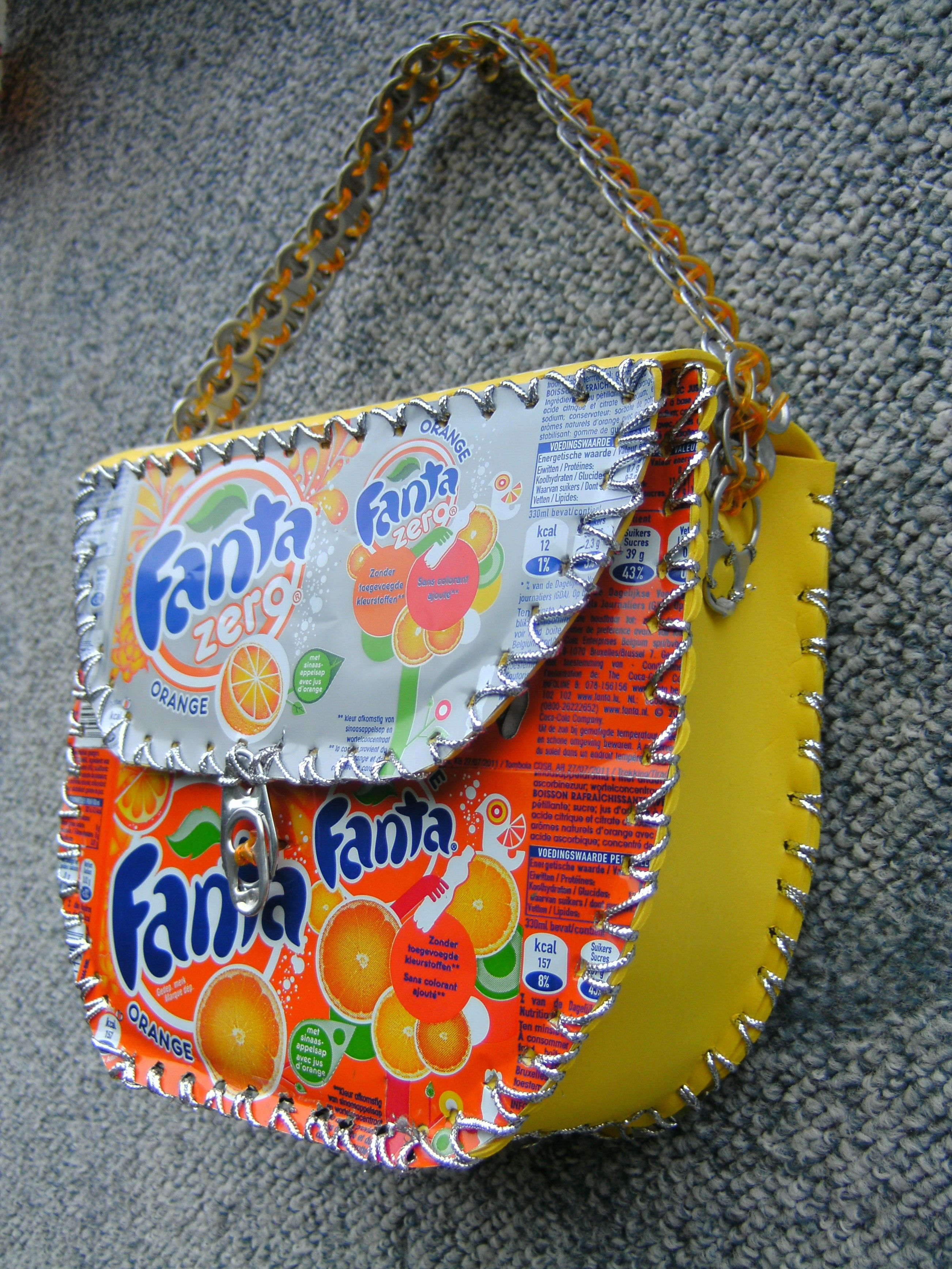 Grote Tas Maken : Unieke handgemaakte tas gemaakt van verschillende fanta