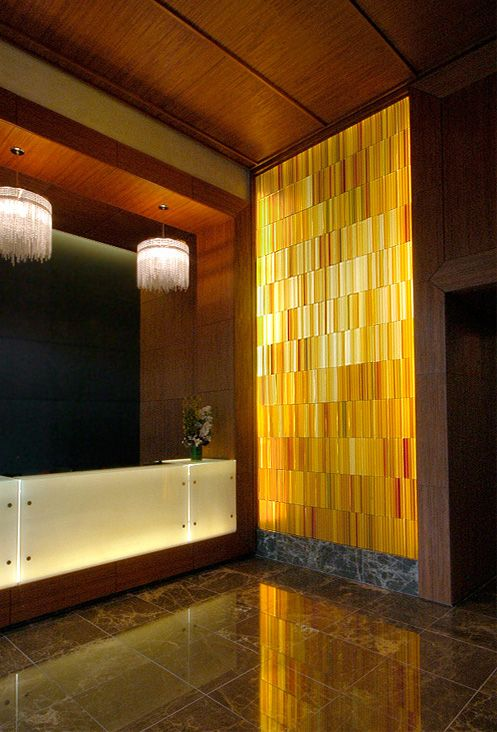 Art Glass Feature Walls, Site Specific Designs