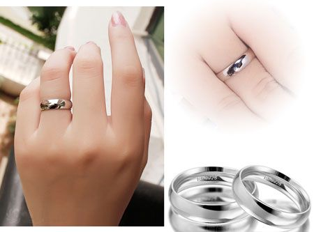 Simple Plain 925 Silver Rings Sterling Silver Wedding Bands for Men and Women