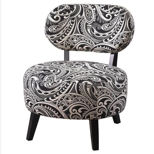 Delightful Black Paisley Chair   Add Chic Style And Feminine Appeal To A Living Room  Or Bedroom