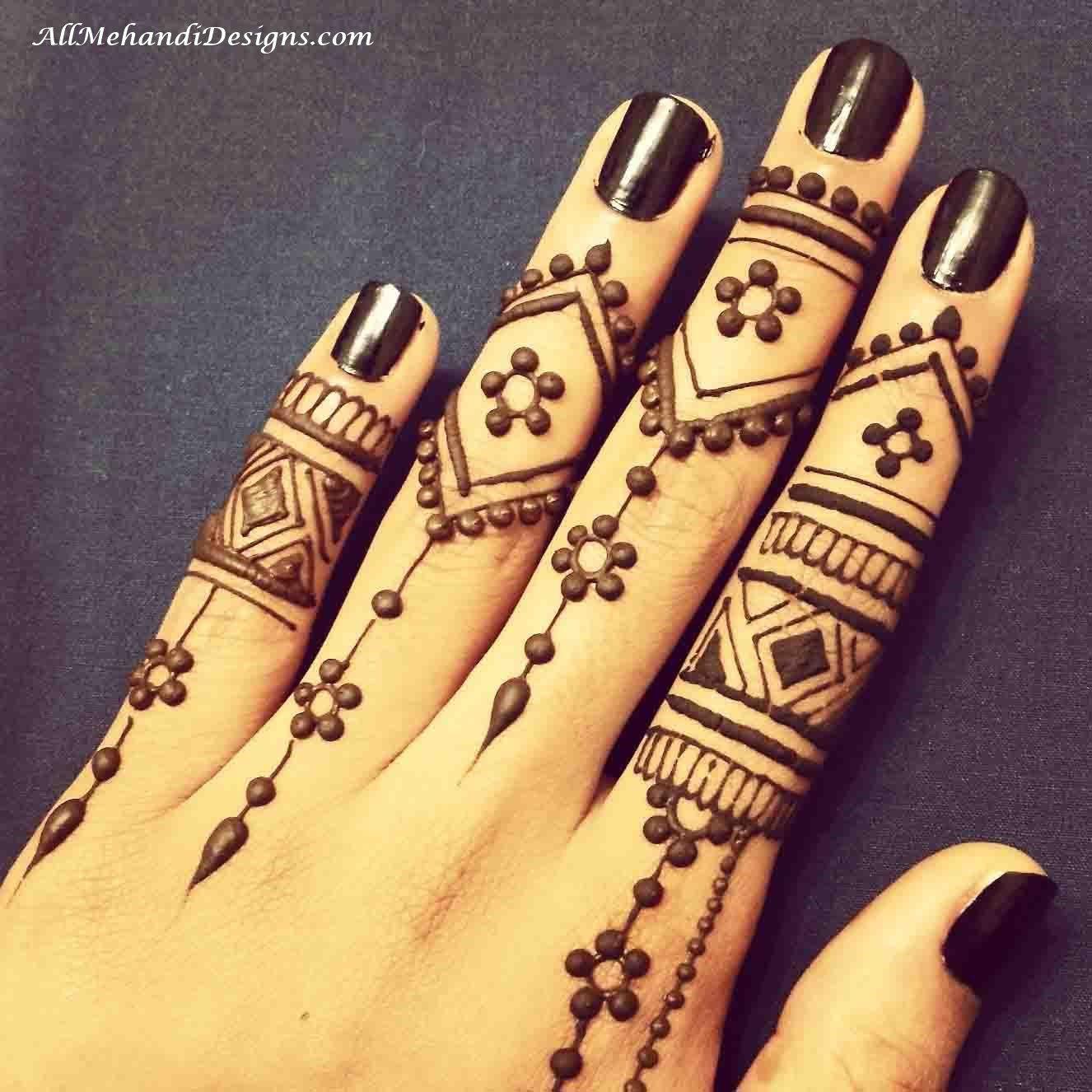 Finger Mehndi Designs Arabic Easy Mehndi Designs For Fingers Finger