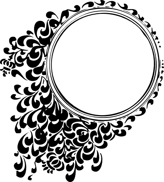 Line Art Design Png : Border line design png filigree circle svg graphic