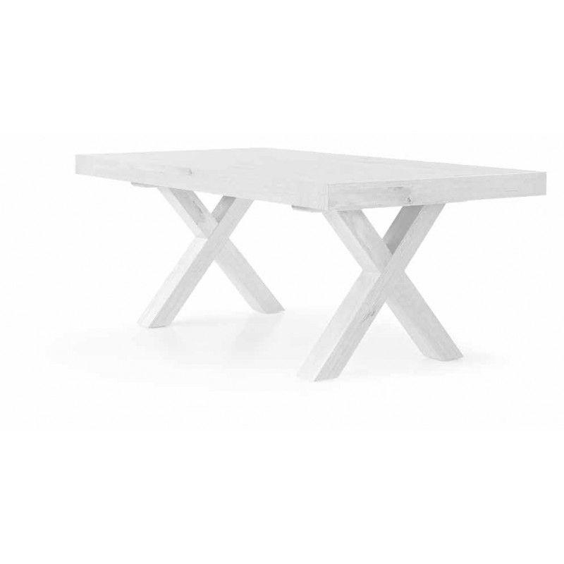 Tavolo In Legno Bianco Allungabile.Crd Tavolo Legno Bianco Consumato 180x90 Allungabile 280
