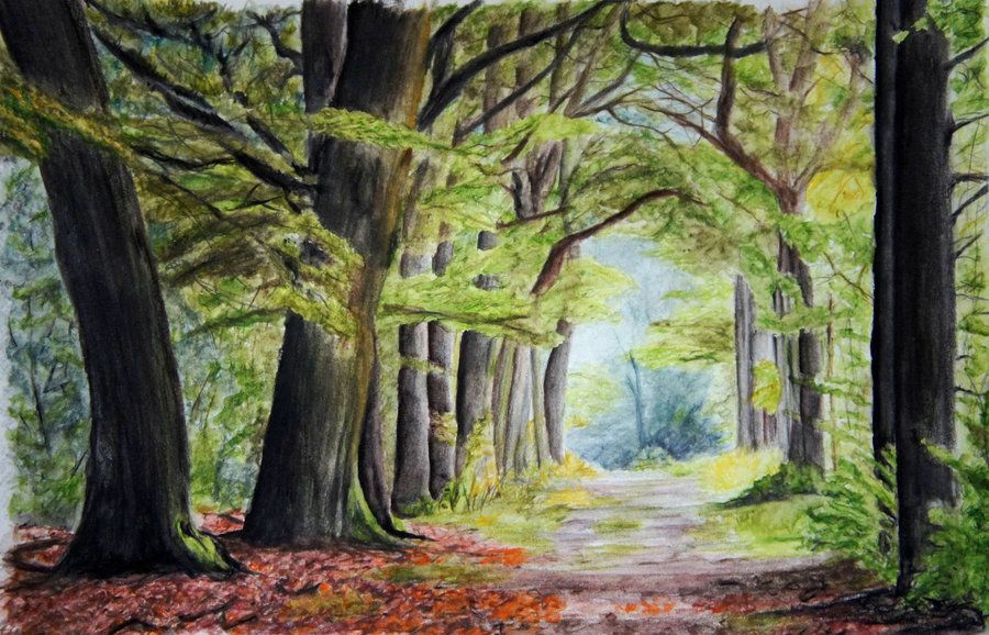 Green Archway Watercolour Pencils By 6re9 Deviantart Com On