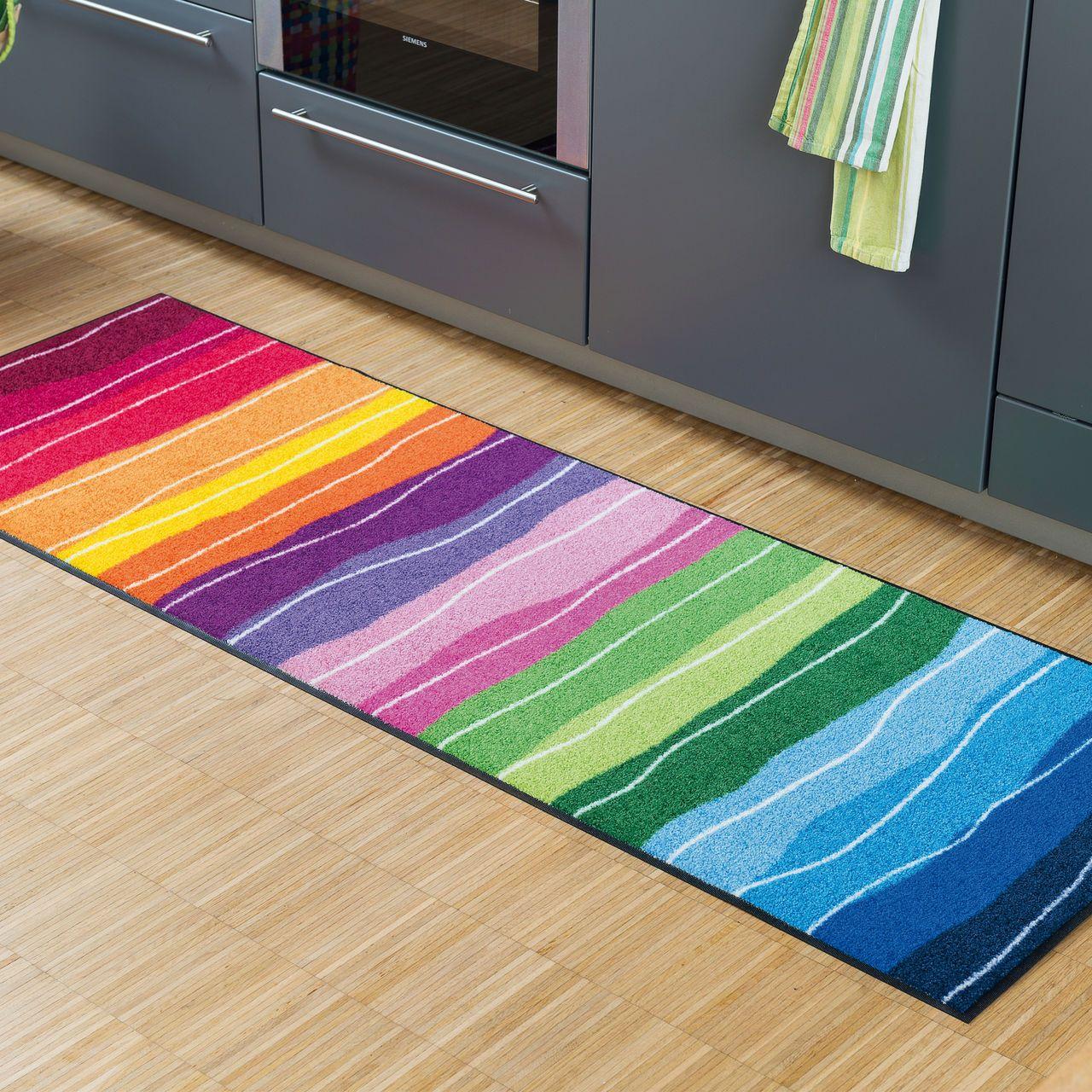 Farbenfroher Teppichläufer & Fußmatte