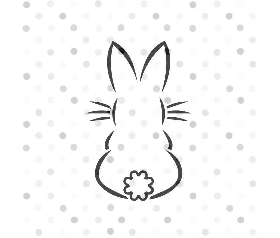 Photo of Bunny SVG, Instant Download, Cricut and Silhouette Easter outline –   – #bunny #…