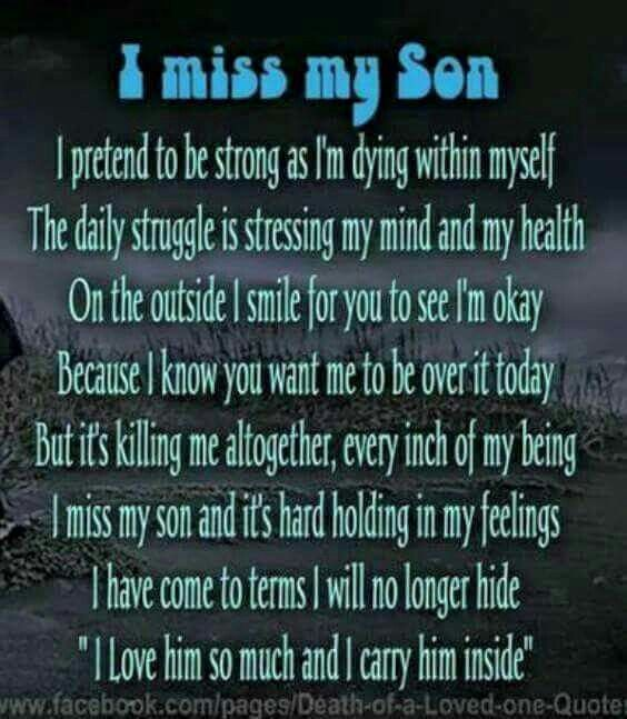 I carry you in my Heart SON... 11/7/85 -n 6/23/14 | Missing ...