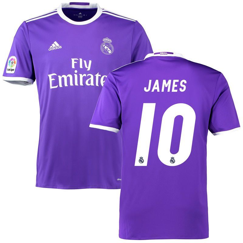 James Rodriguez Real Madrid Adidas 2016 17 Away Replica Jersey Purple Products Real Madrid Adidas Ronaldo Real Madrid