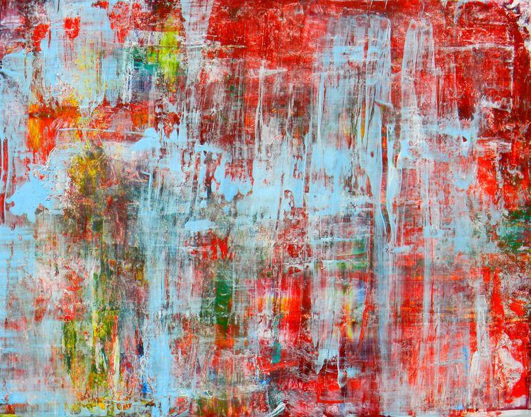 "Saatchi Online Artist: Aida Markiw; Acrylic, 2012, Painting ""Sky reflected on Poppy Field"""