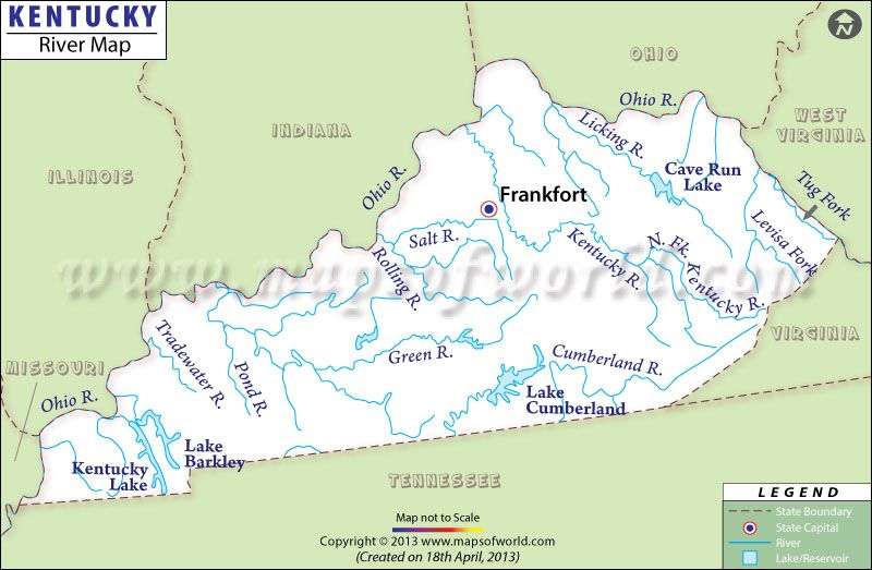 Kentucky RIVER Map MAPS Pinterest Kentucky And Rivers - Usa map with rivers and lakes