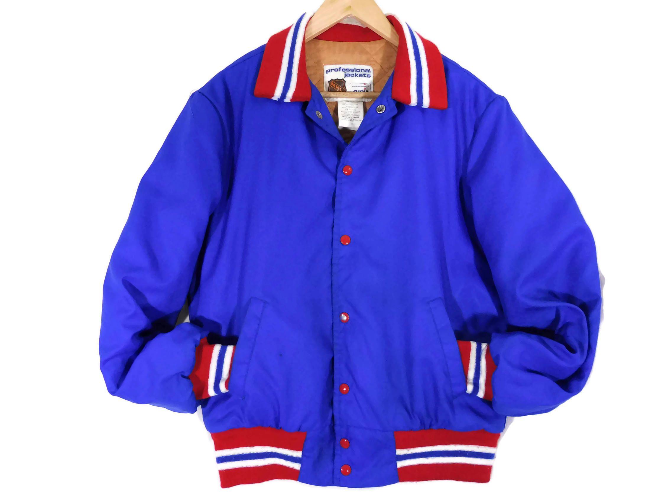 Vintage 80s Nhl Hockey Bomber Jacket Medium Mens Shain Etsy Jackets Canadian Clothing Jacket Canada