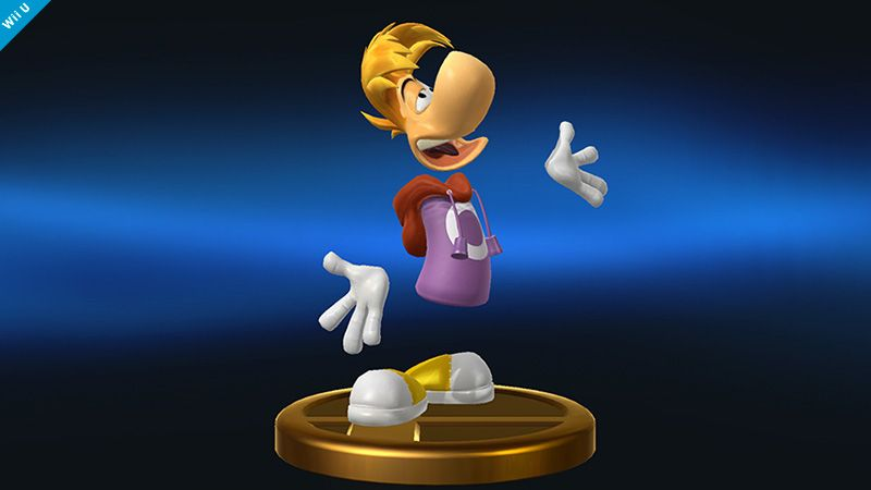 """In order to make Rayman's trophy, we asked Ubisoft to share their references. We were expecting to receive 2D drawing references for Rayman, but to our surprise, they sent us data of a brand new 3D model that they rendered for this game!! And that was how this trophy was created. It takes a lot of work creating each model, so it's wonderful that the creators contributed their own efforts!!"""