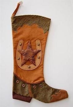 Boot Christmas Stocking Patterns | ... Cowboy Western Christmas ...