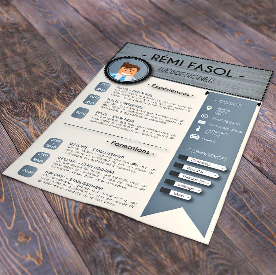 design Créer un CV en ligne au format PDF à télécharger