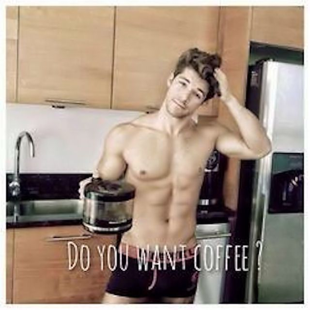 Sexy man good morning
