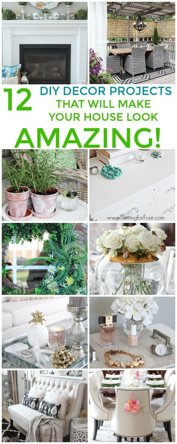 Ideas : Looking to decorate your space and make a huge impact without breaking the bank? See these 12 gorgeous DIY decor projects that will make your home look amazing! #diydecor #decor #budget