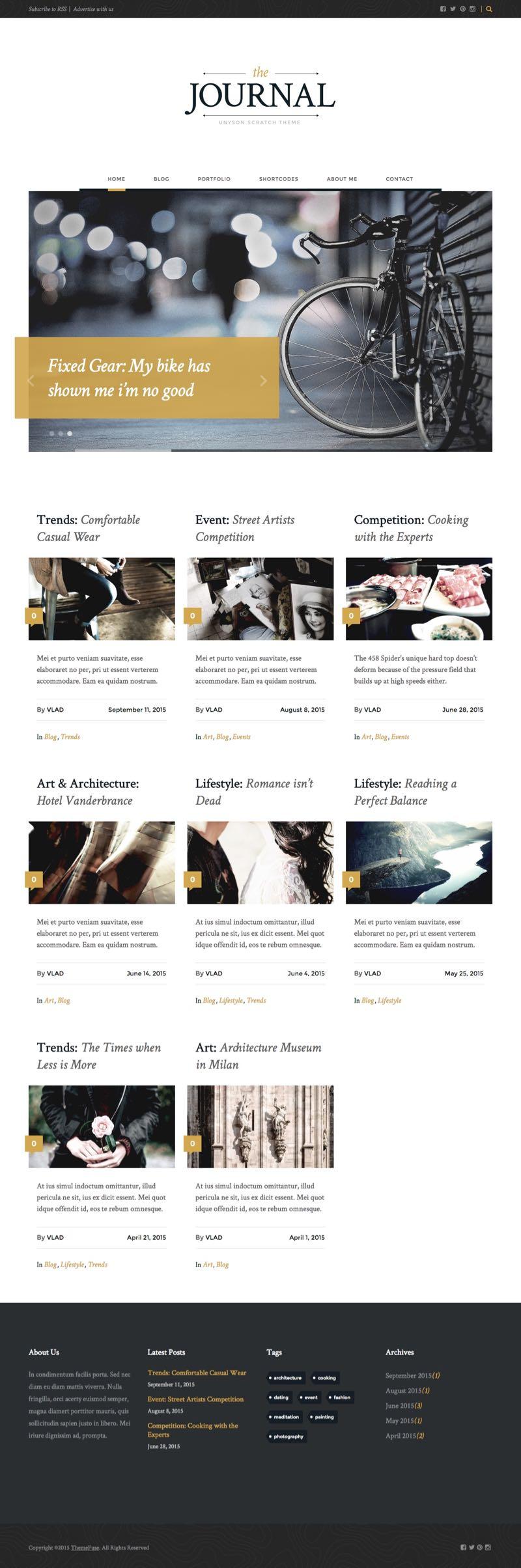 Journal  U2013 Free Wordpress Blog Or Online Magazine Theme