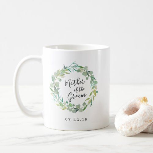 Photo of Eucalyptus Wreath Mother of the Groom Coffee Mug   Zazzle.com
