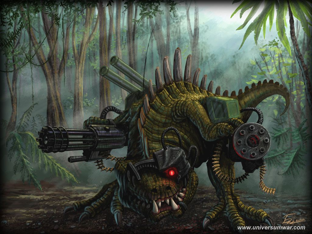 Dinosaur cyborg | Robots Are Pretty Awesome | Art, Jungle