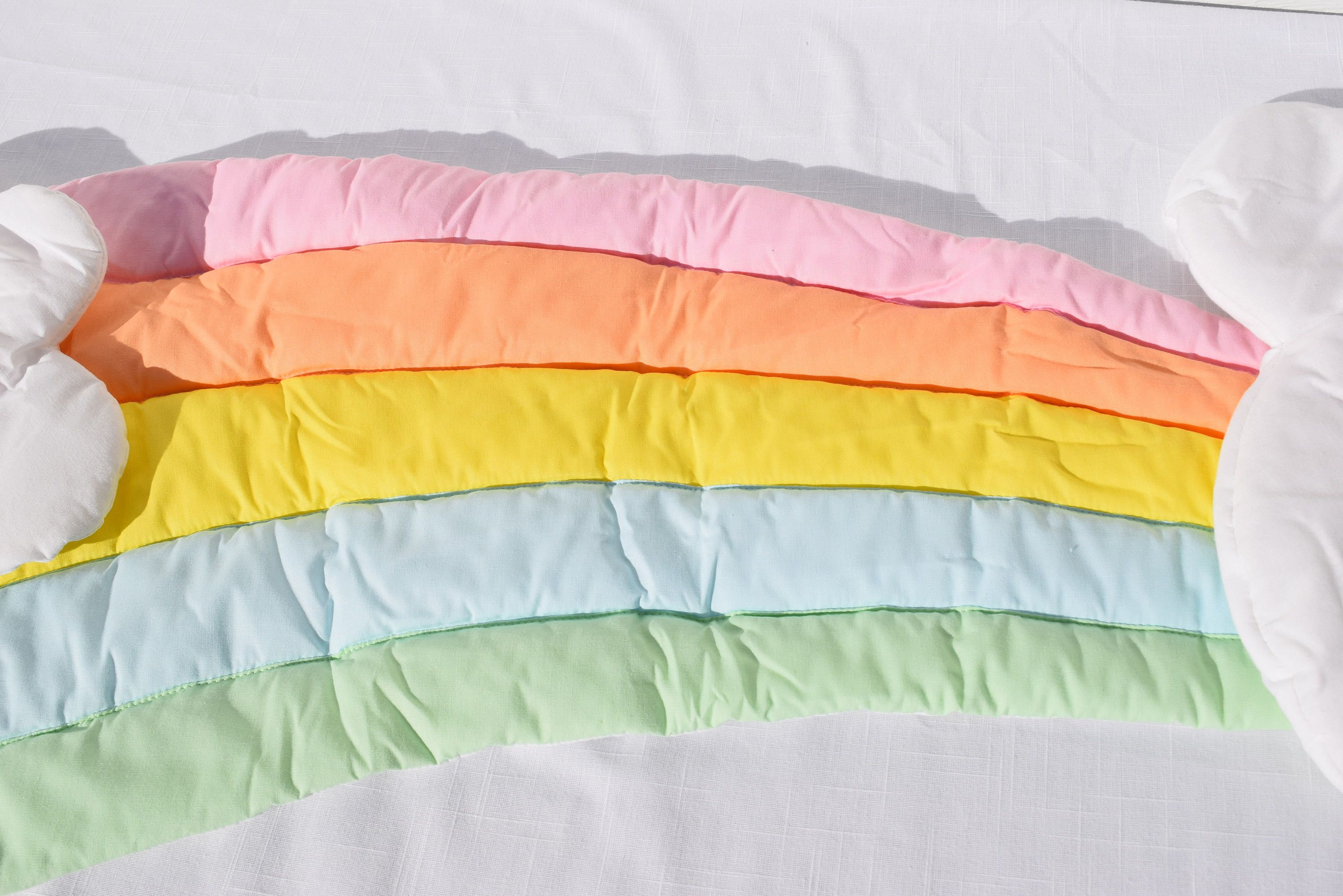 Pastel Quilted Rainbow and Clouds Wall Hanging Vintage | Magic ...