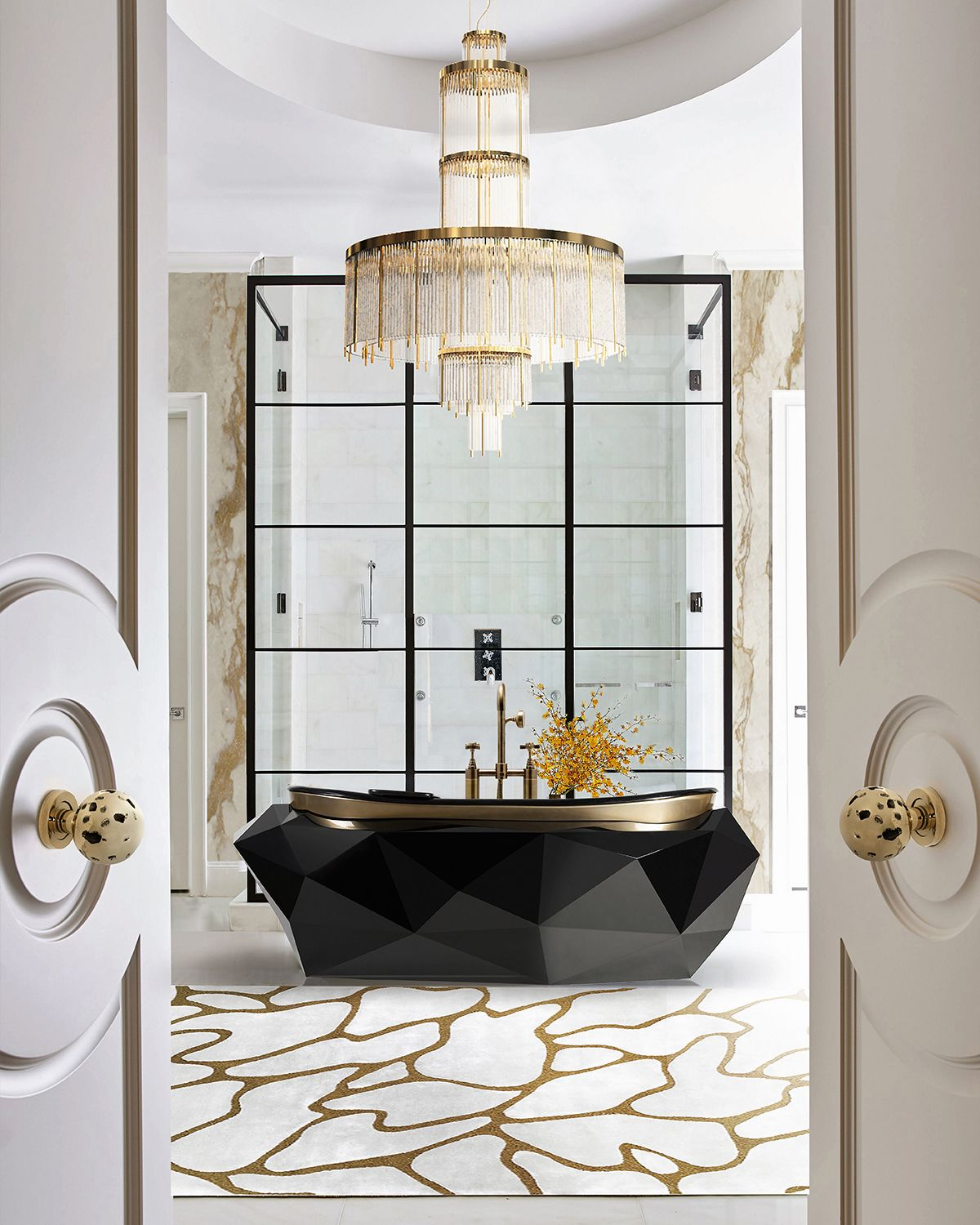 How To Make Your Bathroom More Glamorous With Gold Details In 2020 Bathroom Design Luxury Bathroom Decor Luxury Luxury Bathroom