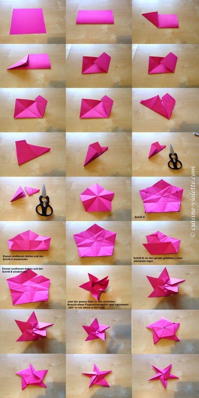 Sugarprincess: Christmas Cookie Club: 7. Türchen - Origami von Cuisine Violette #sternebastelnmitkindern