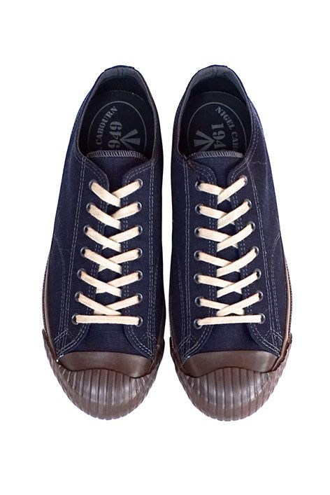 778437d32fca Nigel Cabourn - WW2 MILITARY SHOES LOW TOP - NAVY ナイジェルケーボン ...