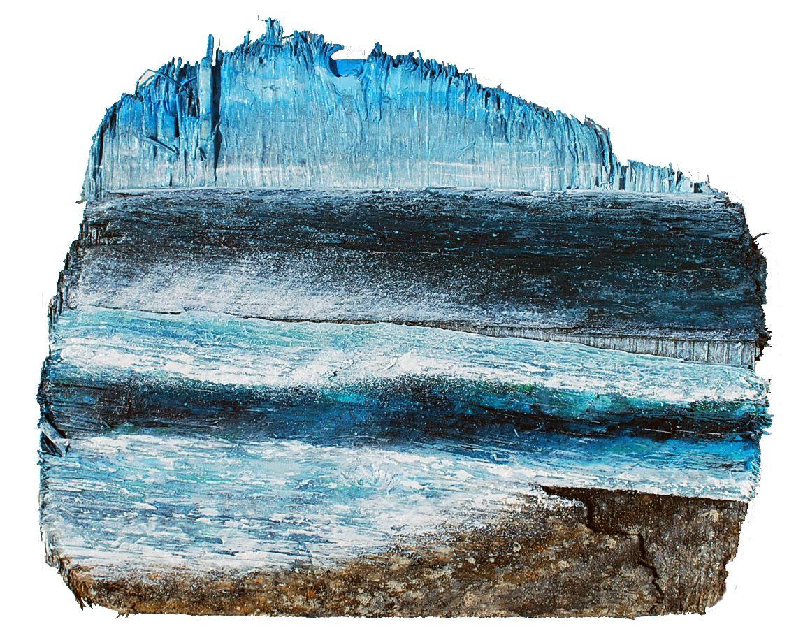 Abstracted driftwood sea 40cm x 35cm acrylic on