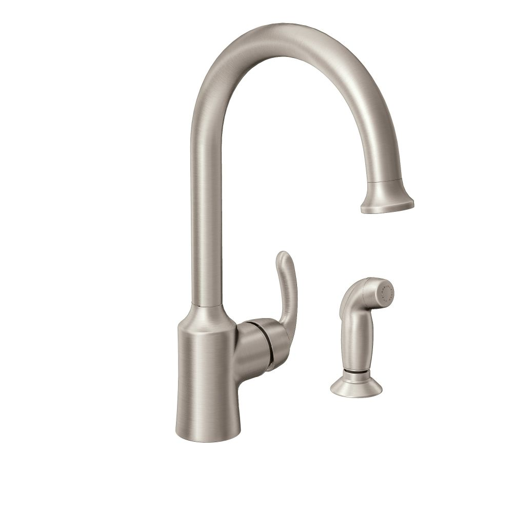 Bayhill Spot Resist Stainless One Handle High Arc Kitchen Faucet