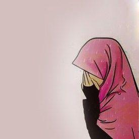 Dp Bbm Muslimah Menangis Kartun Gambar Seni Islamis