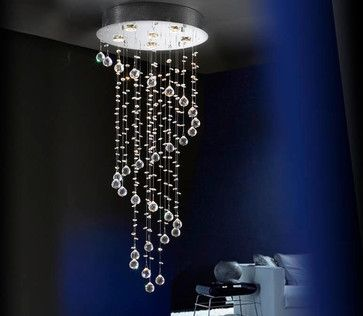Spiral Ceiling Light With Crystals
