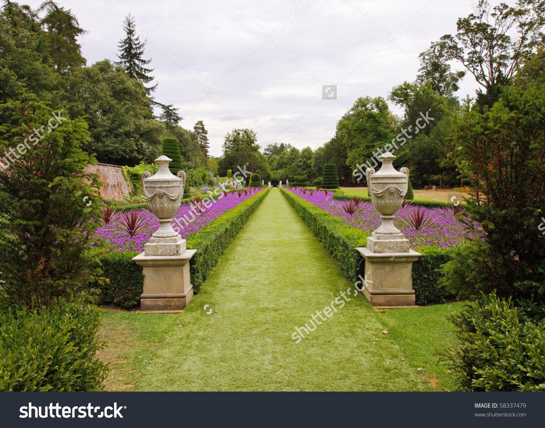 Stock photo a formal english landscape garden with box hedging and stock photo a formal english landscape garden with workwithnaturefo