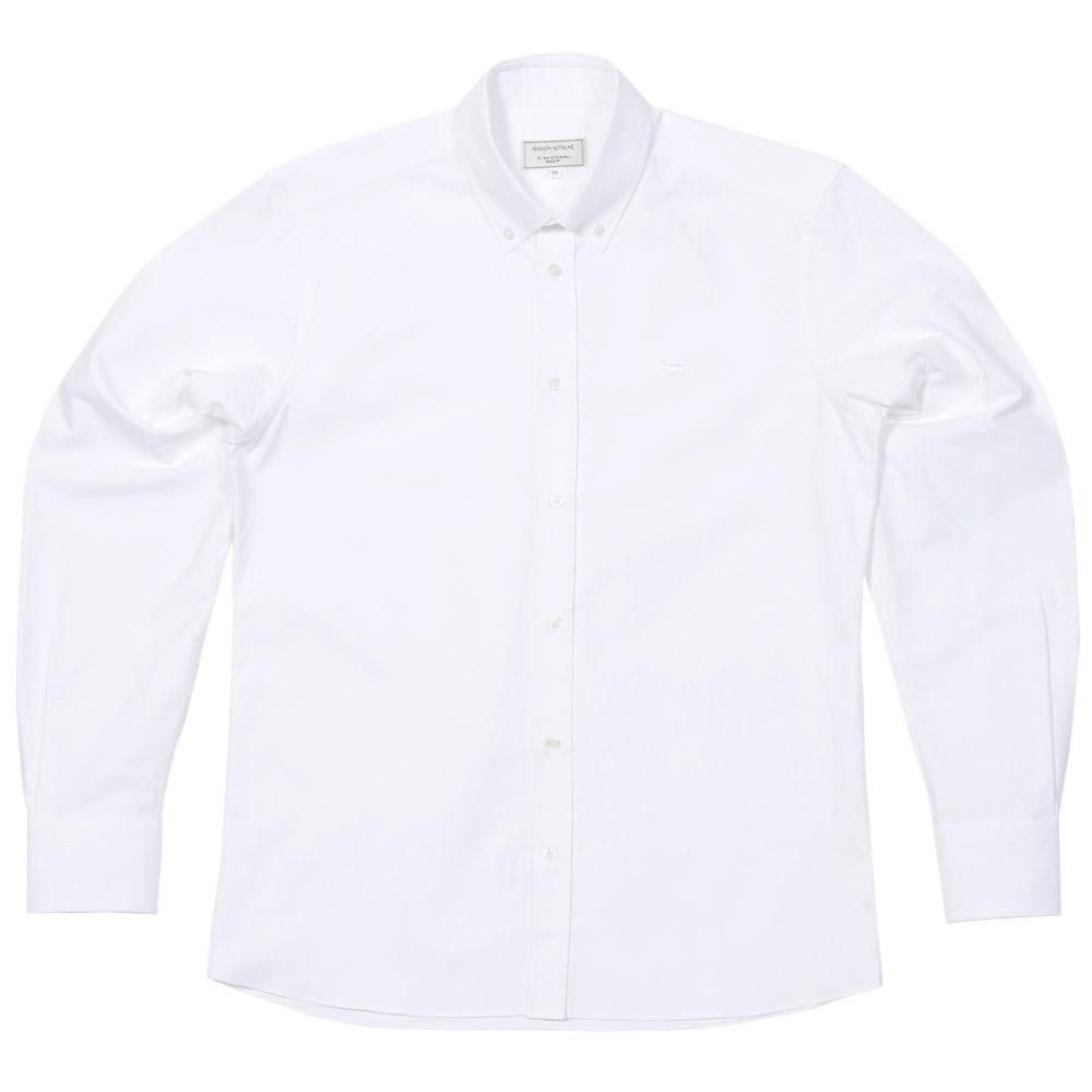 Maison Kitsune Classic Button Down Oxford Shirt (White) GBP175
