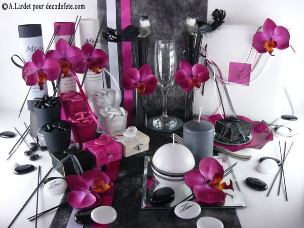cette deco de table a t r alis e avec un chemin de table sobre. Black Bedroom Furniture Sets. Home Design Ideas