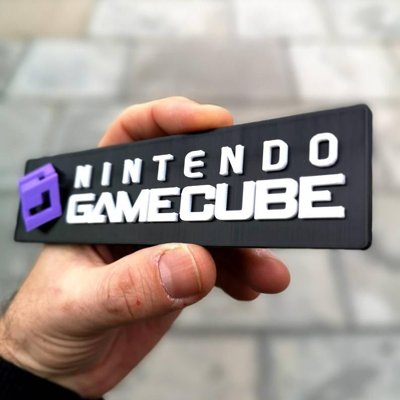 3D Printed Nintendo Logo Displays made by readyplayertwo