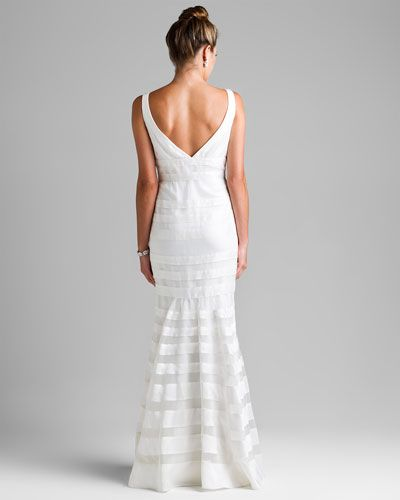 The back Ann Taylor Ivory Silk Mermaid Wedding Gown | Our Wedding in ...